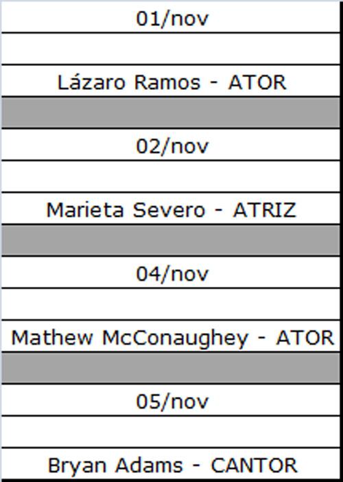 Aniversários de 01/11/2011 a 05/11/2011 41