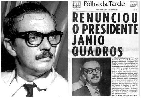 Jânio Quadros renúncia em 25 de agosto de 1961