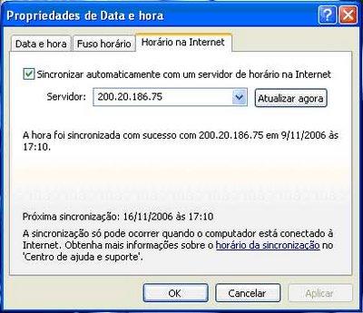 Acerte o Relógio do Windows pela Hora Legal Brasileira 19