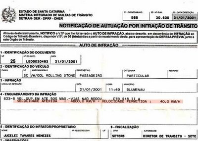 Homem é multado por dirigir a 4.800 km/h 61