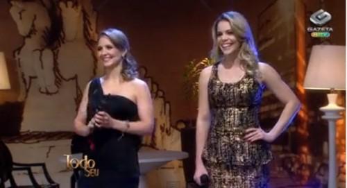 Bruna e Keyla Encantam Ronnie Von na TV Gazeta 27