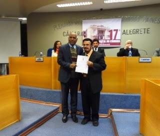 Câmara de Alegrete concede título de cidadania a jornalistas do Terceiro Tempo 10