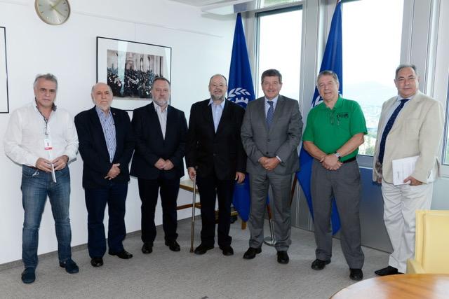 O Diretor Geral da OIT – Organização Internacional do Trabalho, Guy Rider, recebeu ontem, 28 de agosto, em Genebra, quatro presidentes de Confederações do Brasil