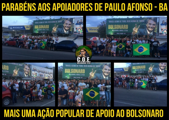 Outra líder da direita é aThatá Gárbel da cidade do Rio de Janeiro, também no comando do COE
