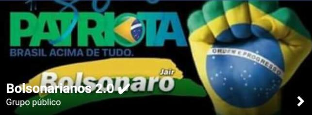 O Saudações, Patriotas! tem menos de 2.000 membros, mas todos são muito ativos, enquanto que o Bolsonarianos tem mais de 60.000 membros super ativos e dispostos a tudo, legalmente, para eleger Jair Bolsonaro como Presidente da República em 2018
